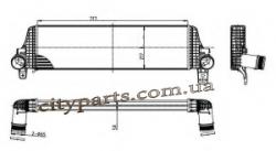 Т5 Транспортер Фольксваген 2.0 tdi 2003 - 2015 г Радиатор интеркулера